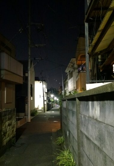 Got of at wrong station had to navigate small streets of Tokyo